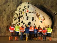 Das ÖBA-Team und Mitarbeiter der Bau-ARGE.