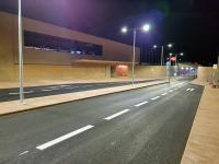Bahnhof Achau bei Nacht