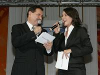 Der Chefredakteur des Wirtschaftsblattes Dr. Peter Muzik und die ORF-Moderatorin Eva Pölzl führten durch den Abend.