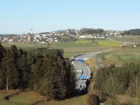 Freilandstrecke zwischen Tunnel Götschka und Tunnel Neumarkt