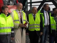 ÖBB-Projektleiter Ing. Hödl, ÖBB-Vorstandssprecher Mag. Matthä, Bürgermeister von Tulln Stift und ÖBB-Projektkoordinator Dipl.-Ing. Pascher (von links nach rechts)